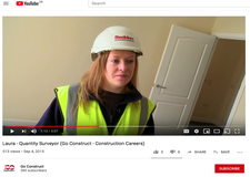 Laura talks about her experience training as a Quantity Surveyor