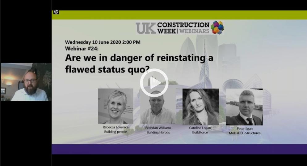 Free Webinar #24: Are we in danger of reinstating a flawed status quo?