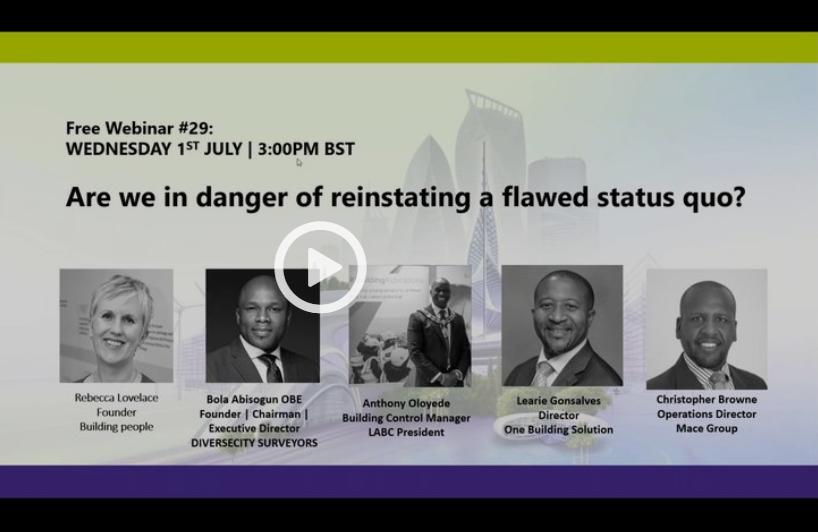 Free Webinar #29: Are we in danger of reinstating a flawed status quo?