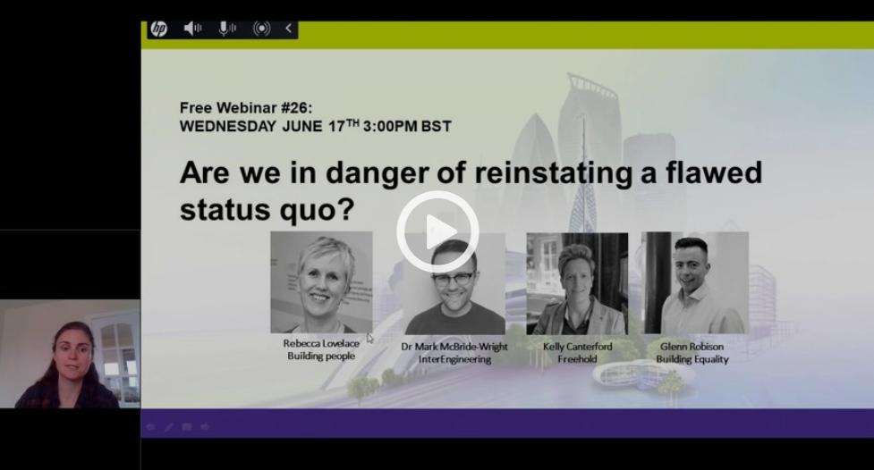 Free Webinar #26: Are we in danger of reinstating a flawed status quo?